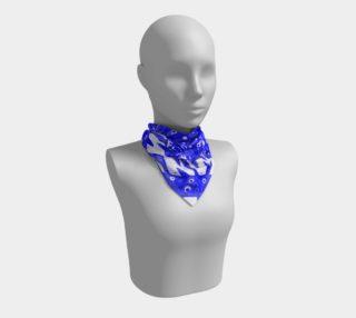 Blue Aztec Zebra Print Silk Scarf  preview