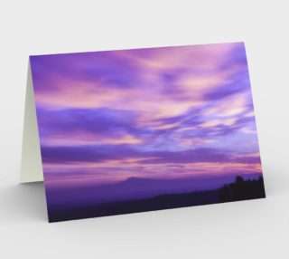 Purple Sunrise Stationary Greeting Card preview