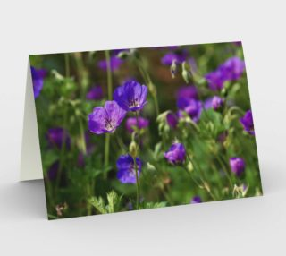 Purple Cranesbill Stationary Greeting Card preview