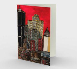 Montreal sous le rouge - MTL PACK WISHCARD - Carte de souahait preview