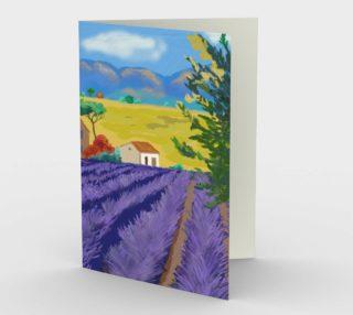 Lavender Farm Stationary Card Portrait preview