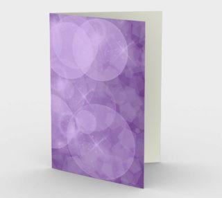 Purple Bubbles Stationary Card portrait landscape preview