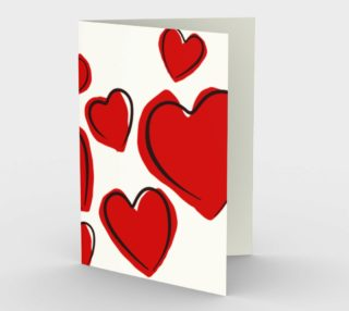 Scribbled Love Greeting Card preview