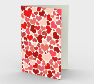 Pink and Red Love greeting card preview