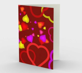 Neon Love Greeting Card preview