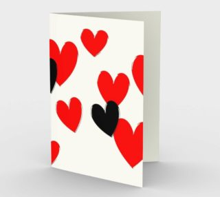 Black and Red Hearts Greeting Card preview