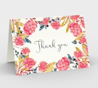 Watercolor Botanical Thank You Card preview