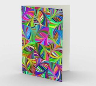 Circular Colorful Geometric Abstract Greeting Card preview