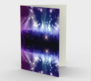 Purple and Blue Burst Stationary Card preview