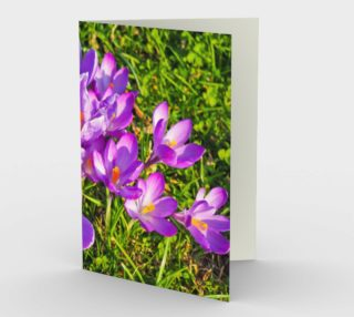 Purple Spring Crocus Stationary Card greeting card preview