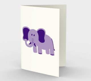 Purple Elephant Stationary Greeting Card preview