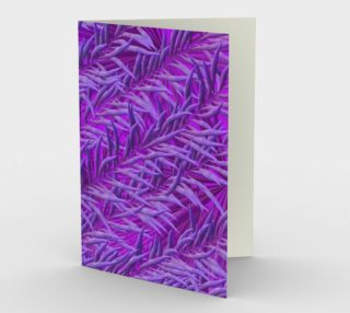 Purple Feathers Stationary greeting card preview
