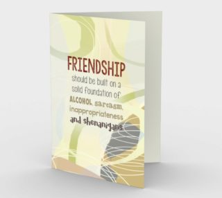 0810.Friendship - Shenanigans Card by Deloresart preview