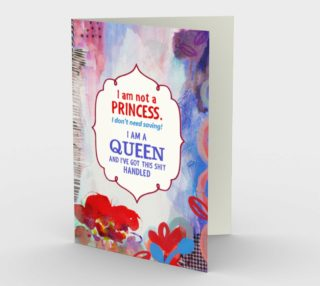 0939.I Am Not a Princess Card by Deloresart preview