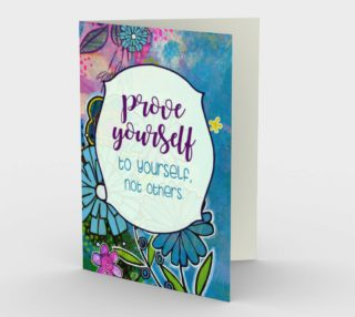 0944.Prove Yourself to Yourself Card by Deloresart preview