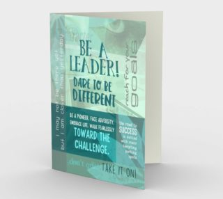 0003.Be A Leader - Dare to Be Different Card by Deloresart preview