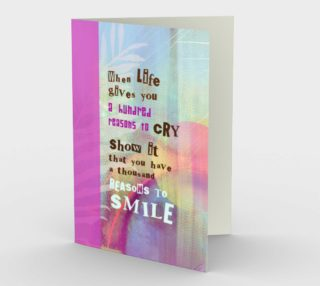 0050 A Thousand Reasons to Smile Stationery Card by Deloresart preview