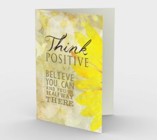 0061.Think Positive Card by Deloresart preview