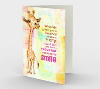 0204.A Thousand Reasons to Smile Card by Deloresart preview