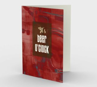 0633.It's Beer O'Clock Card by Deloresart preview