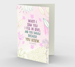 0749.When I Saw You I Fell In Love Card by Deloresart preview