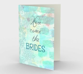 0800 Here Come the Brides Stationery Card by Deloresart preview