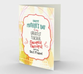 1060.Happy Mother's Day-Therapist-Best Friend Card by Deloresart preview
