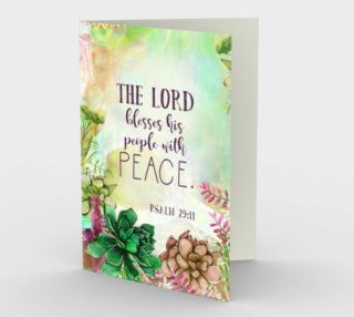 0981.The Lord Blesses his People With Peace Card by Deloresart preview