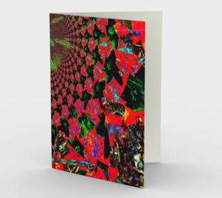 Red Flower Fractal and Kaleidoscope Art Stationery Card preview
