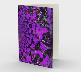 Purple Flower Fractal and Kaleidoscope Art Stationery Greeting Card preview