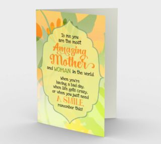 1129.You Are The Most Amazing Mom Card by Deloresart preview