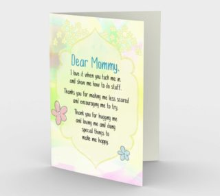 1130.Dear Mommy From Child Card by Deloresart preview