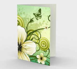 Elegant Green Floral Card preview