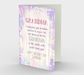 1147. World's Best Grandma Card by Deloresart preview
