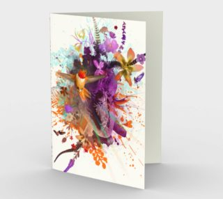 Hummingbird Heart Card preview