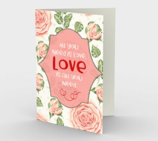 1154. All You Need Is Love v.2 Card by Deloresart preview