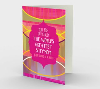 1203. World's Greatest Stepmom Card by Deloresart preview