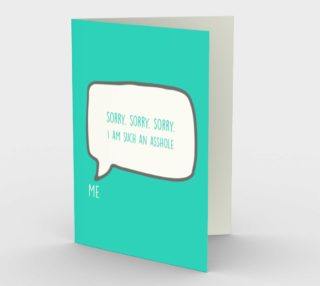 1209. Sorry Sorry Sorry Card by Deloresart preview