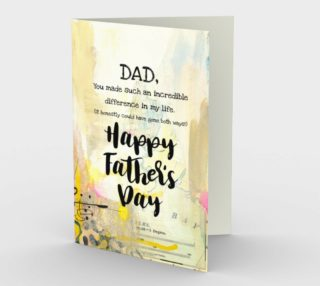 1220. Dad You Make An Incredible Difference Card by Deloresart preview