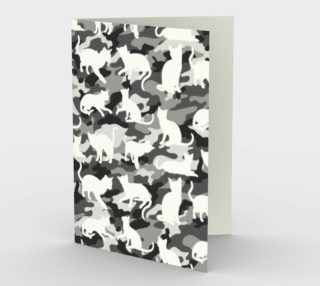Black and White Arctic Snow Cat Catmouflage Camouflage preview