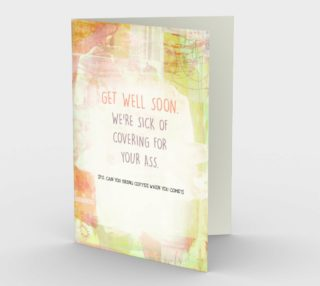1231 Get Well Soon Stationery Card by Deloresart preview