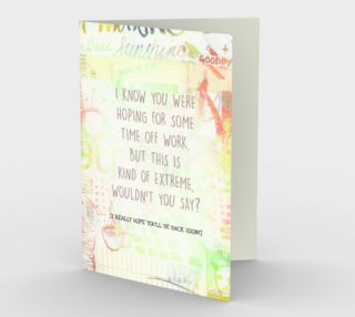 1230 Time Off Work Extreme Stationery Card by Deloresart preview