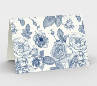 Vintage Blue Watercolor Floral preview