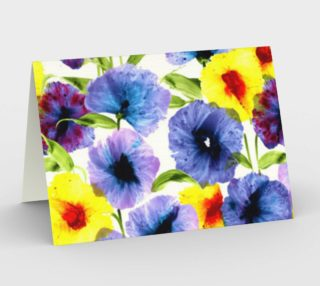Watercolor multi color floral - yellow, purple, blue preview