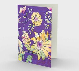 1234 Francella Floret Blank Stationery Card by Deloresart preview