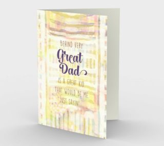 1243 Behind Every Great Dad Stationery Card by Deloresart preview