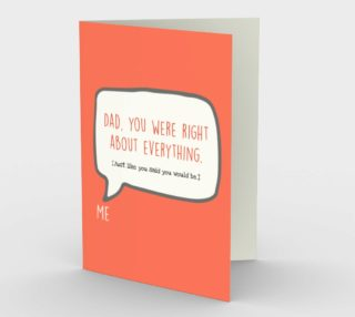 1259 Dad You Were Right Stationery Card by Deloresart preview