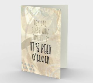 1264 Dad It's Beer O'Clock Stationery Card by Deloresart preview