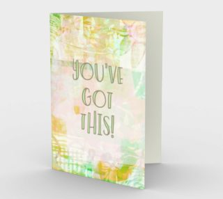 1272 You Got This Mixed Media Stationery Card by Deloresart preview