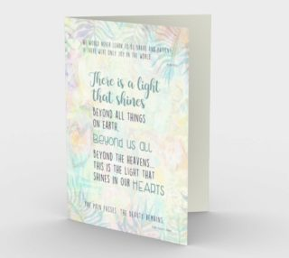 Aperçu de 1273 Beyond Us All Floral Stationery Card by Deloresart